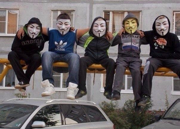 Анонимусы носят маску религиозного фанатика?