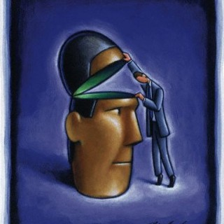 Man Looking Inside Head --- Image by © Images.com/CORBIS