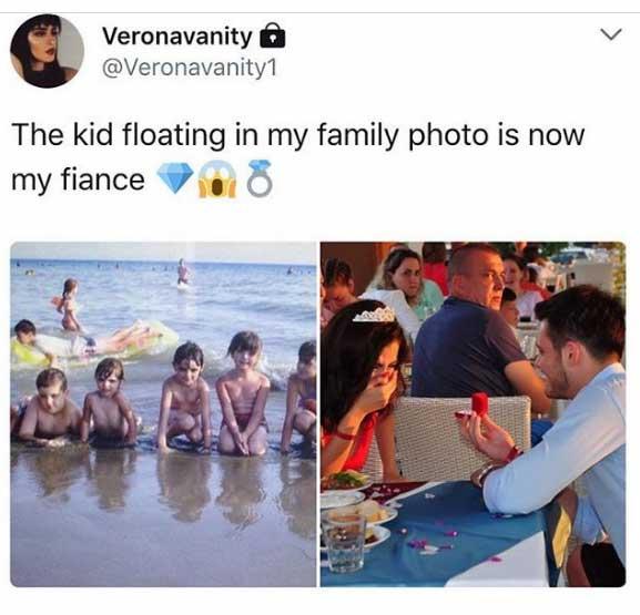 Жених оказался на детском пляжном фото невесты