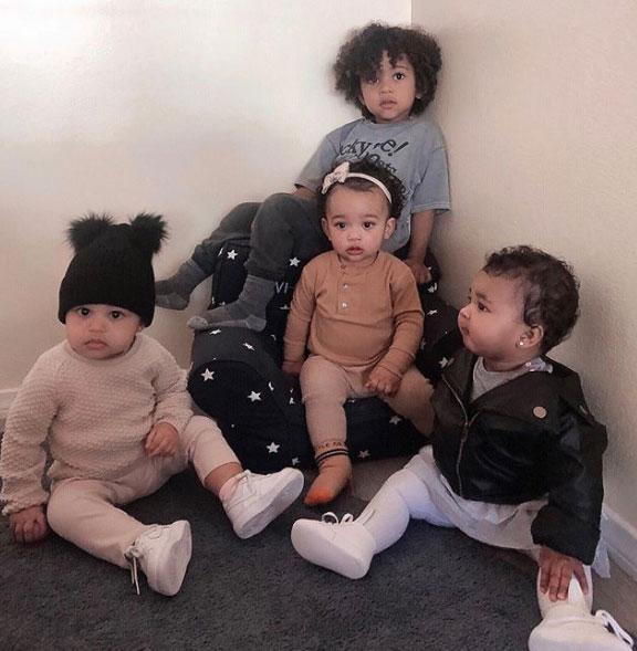 Ким Кардашьян и дети